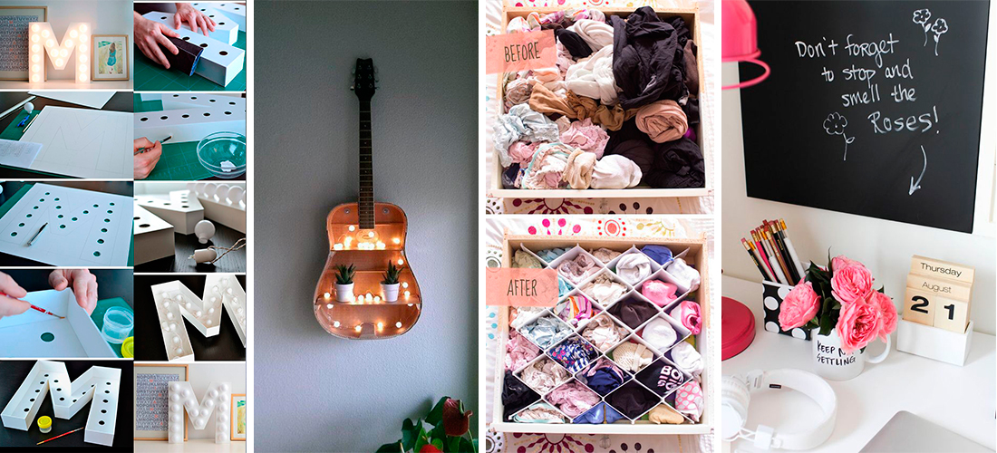 15 ideas geniales para decorar tu cuarto sin gastar tanto for Manualidades para decorar tu cuarto
