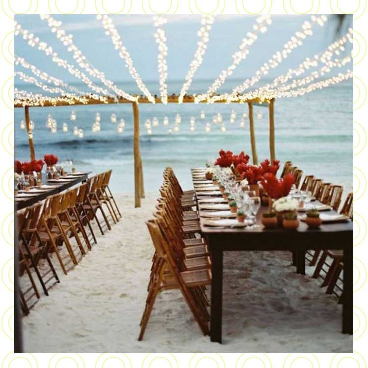 10 ideas de decoración para tu boda en la playa inolvidable